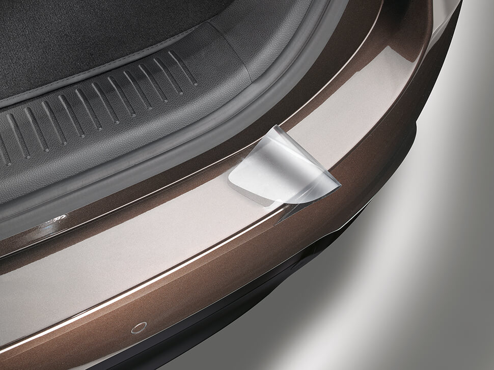 Protetor pára-choques traseiro *autocolante transparente