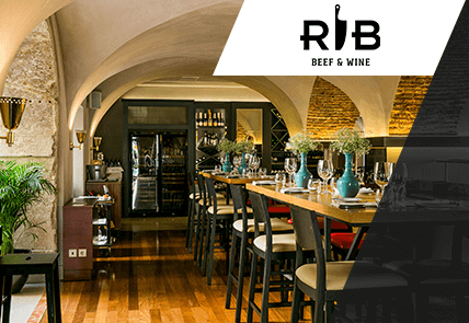 RIB BEEF & WINE